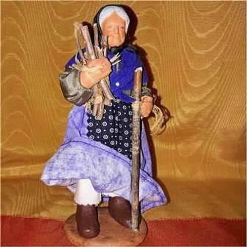 Vends un santon provençal: paysanne H 18cm