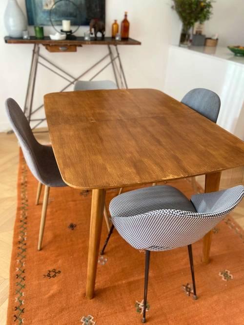 Vends table extensible chêne La redoute