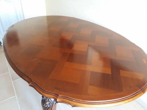 Vends table ovale en merisier