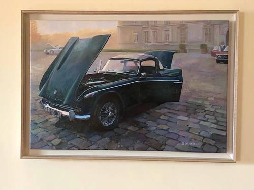 """Tableau voiture ancienne Benoit Montet """"Triumph TR4brume matinale"""""""