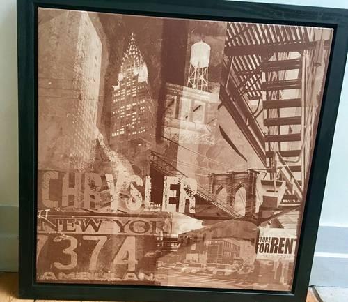 Vends beau tableau Chrysler Building, NY