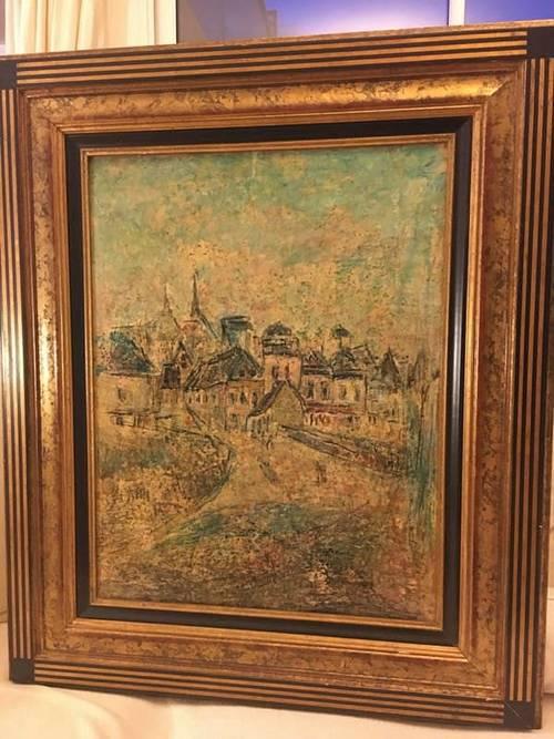 Vends un tableau du port de Saint-Goustan de Georges Ballerat