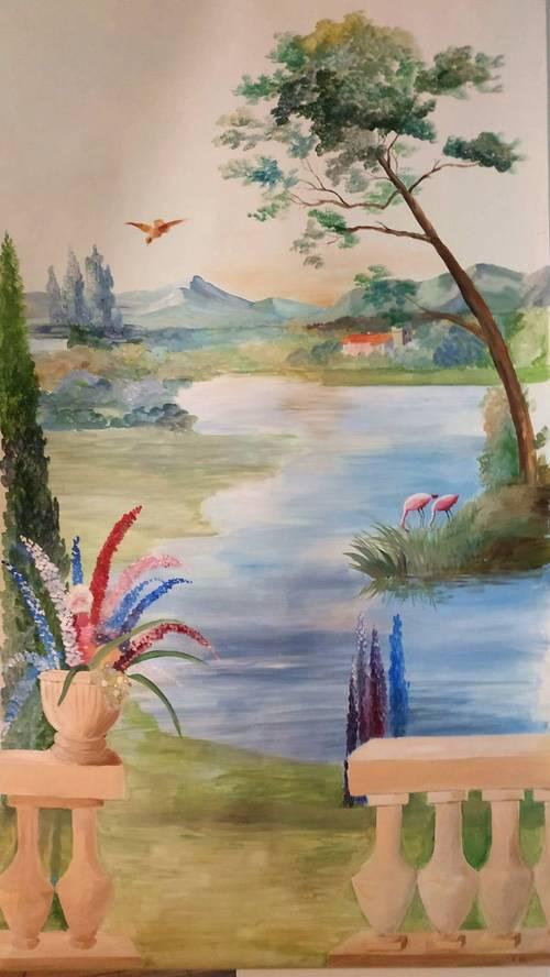 Vends toile décorative peinte
