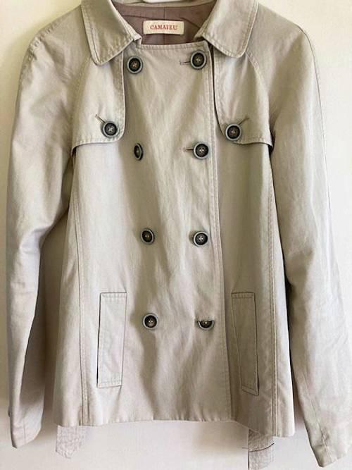 Vends une veste Camaieu en 100% coton femme beige taille 38