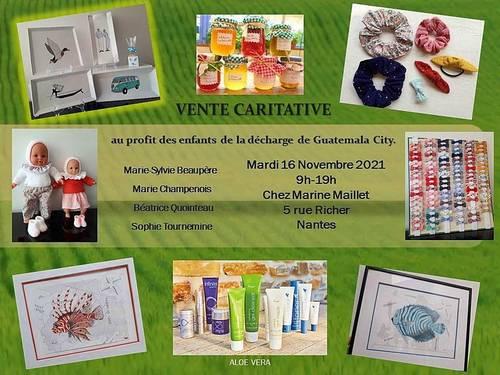 Propose vente caritative mardi 16novembre à Nantes (44)