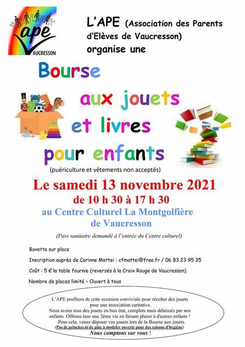 Vente de jouets et livres pour enfants d'occasion à Vaucresson