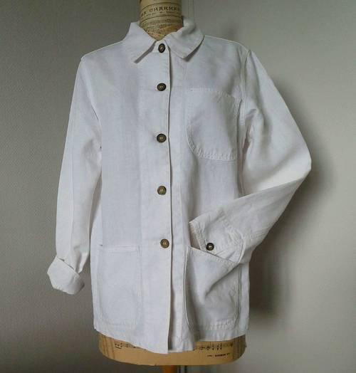Veste blanche en lin Caroll Taille 40