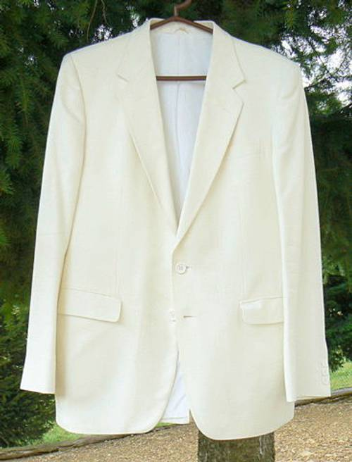 Veste de cérémonie blanche Ted Lapidus Taille L, impeccable