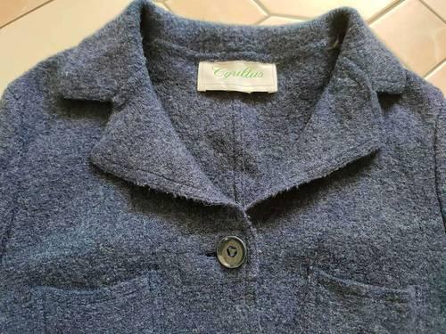 Veste bleu laine Cyrillus taille XS