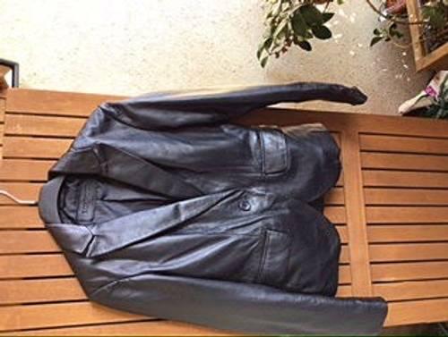 Veste cuir noir Loxwood taille S