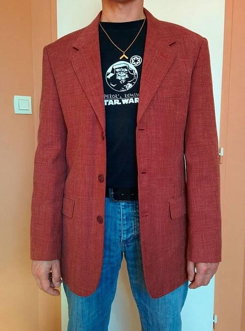 Veste en lin rouge Kiabi taille M très bon état