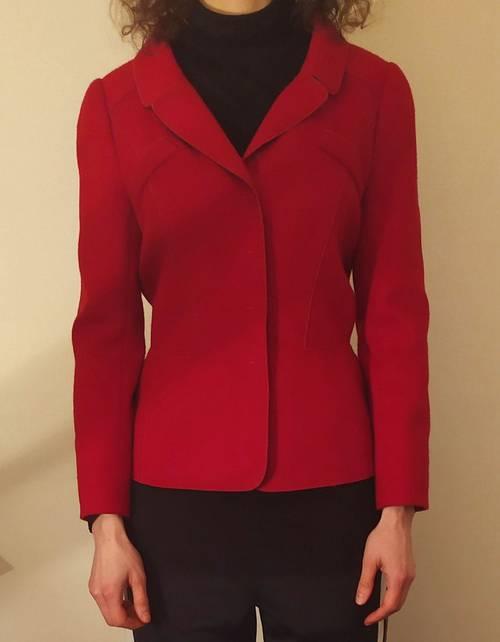 Veste rouge en laine taille 36