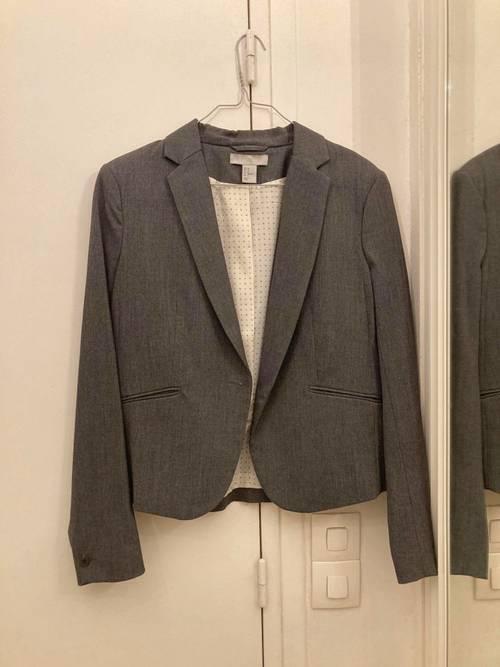 Veste tailleur grise T42