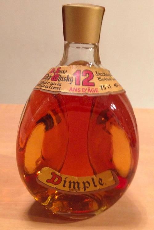 Vieille bouteille de Whisky DIMPLE de HAIG (années 80) jamais ouverte
