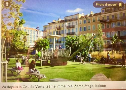 Loue NICE Vieille Ville s/ Coulée Verte, calme, luxe, 4couchages, 77m²