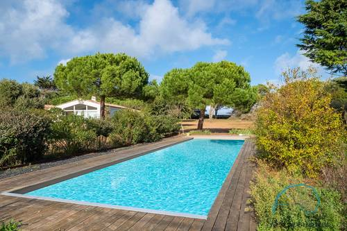 Loue villa d'architecte 5chambres, 12couchages, vue mer et accès plage direct - Ile de Ré (17)