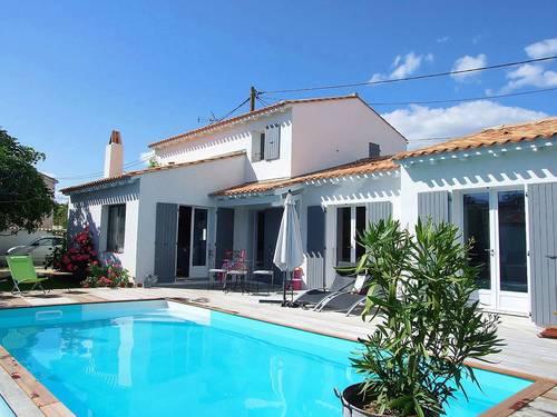 Loue villa de caractère avec piscine chauffée, 3chambres, 6couchages, La Rochelle (17)