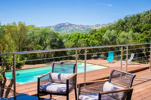 Loue villa 6couchages climatisée avec piscine, vue montagne - Bonifacio