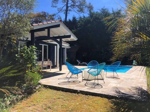 Loue villa de charme - 5chambres, 12couchages à Seignosse (40) Océan avec piscine chauffée