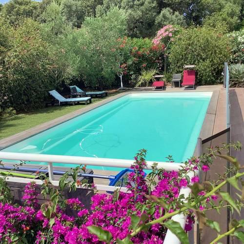Loue Villa climatisée piscine chauffée,sécurisée (6couchages) Bonifacio
