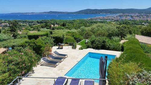 Loue villa 10couchages, vue à couper le souffle sur le golfe de St Tropez - Grimaud (83)