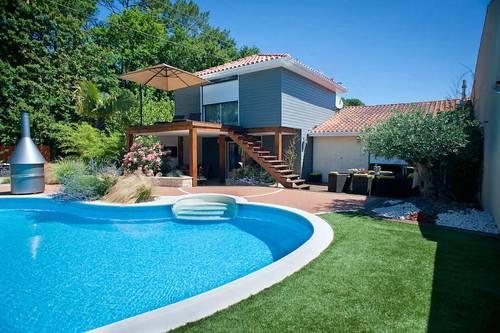 Loue Villa 14couchages avec piscine, jacuzzi & sauna, La Teste-de-Buch (33)