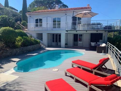 Loue maison 5chambres, 10couchages à Sainte Maxime (83) piscine jardin vue mer