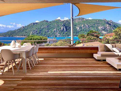 Loue villa 5* - Vue mer baie Santa Giulia (Corse Sud) - 10couchages