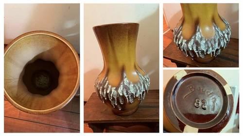 Vintage très beau vase en céramique flammée pièce Num 82Baudin