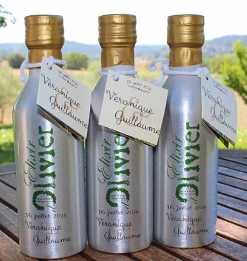 Huile d'olive bio personnalisée pour vos évènements